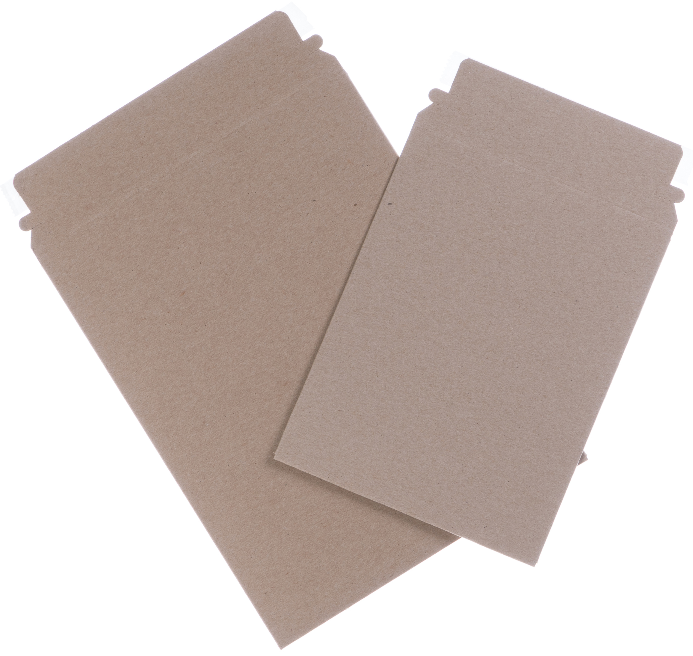 Empty cardboard shipping envelopes