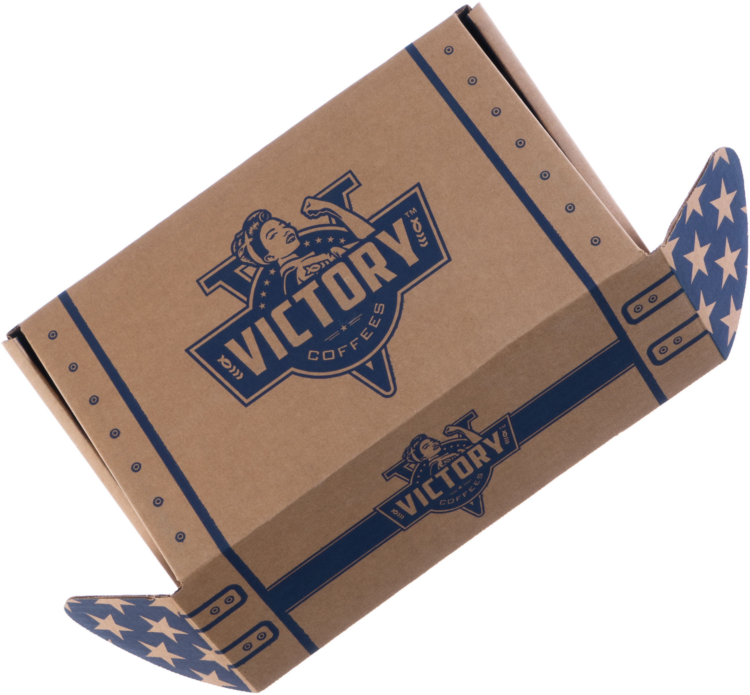 Opening a Victory Coffees shipping box