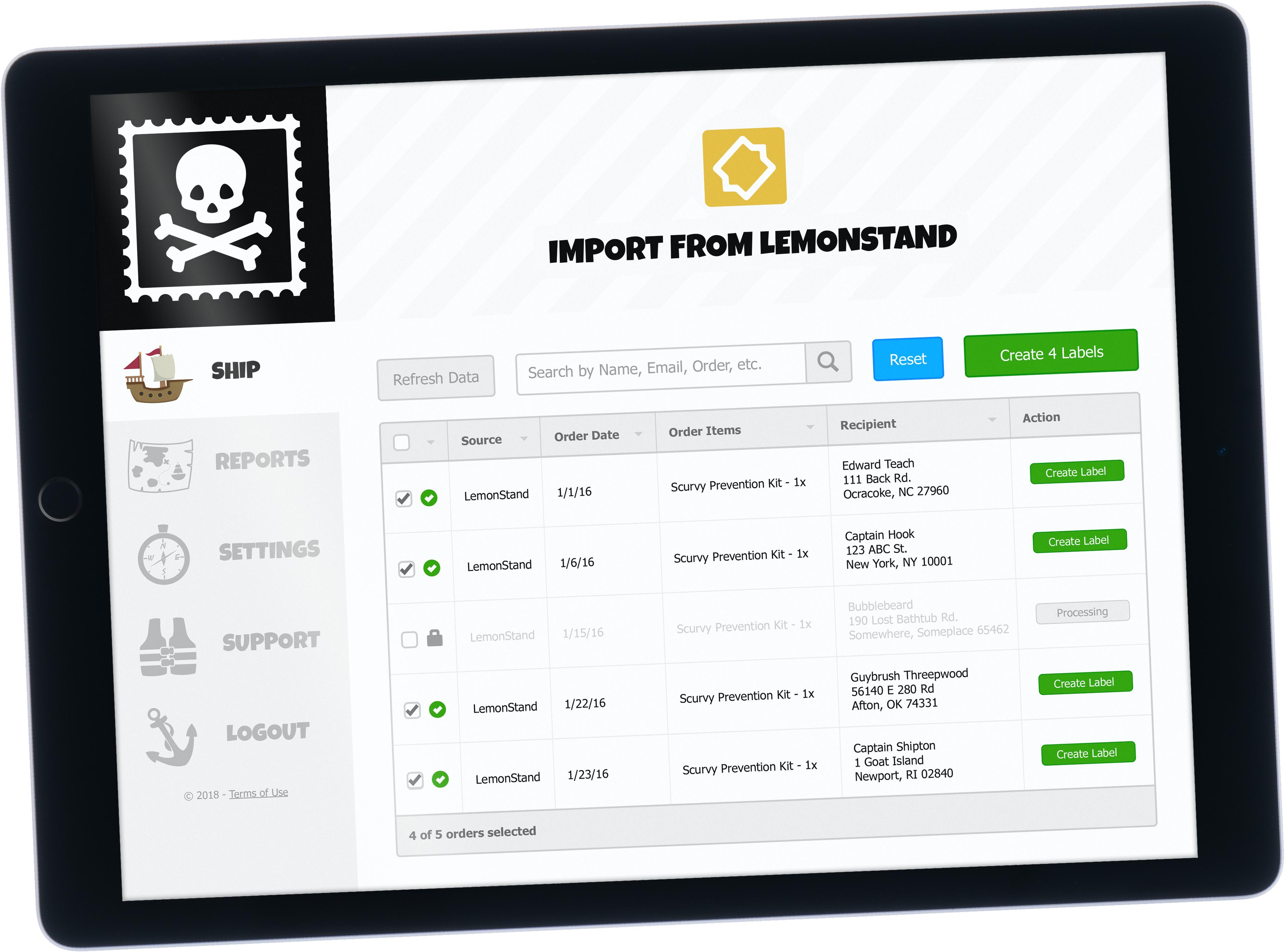 Free LemonStand shipping software