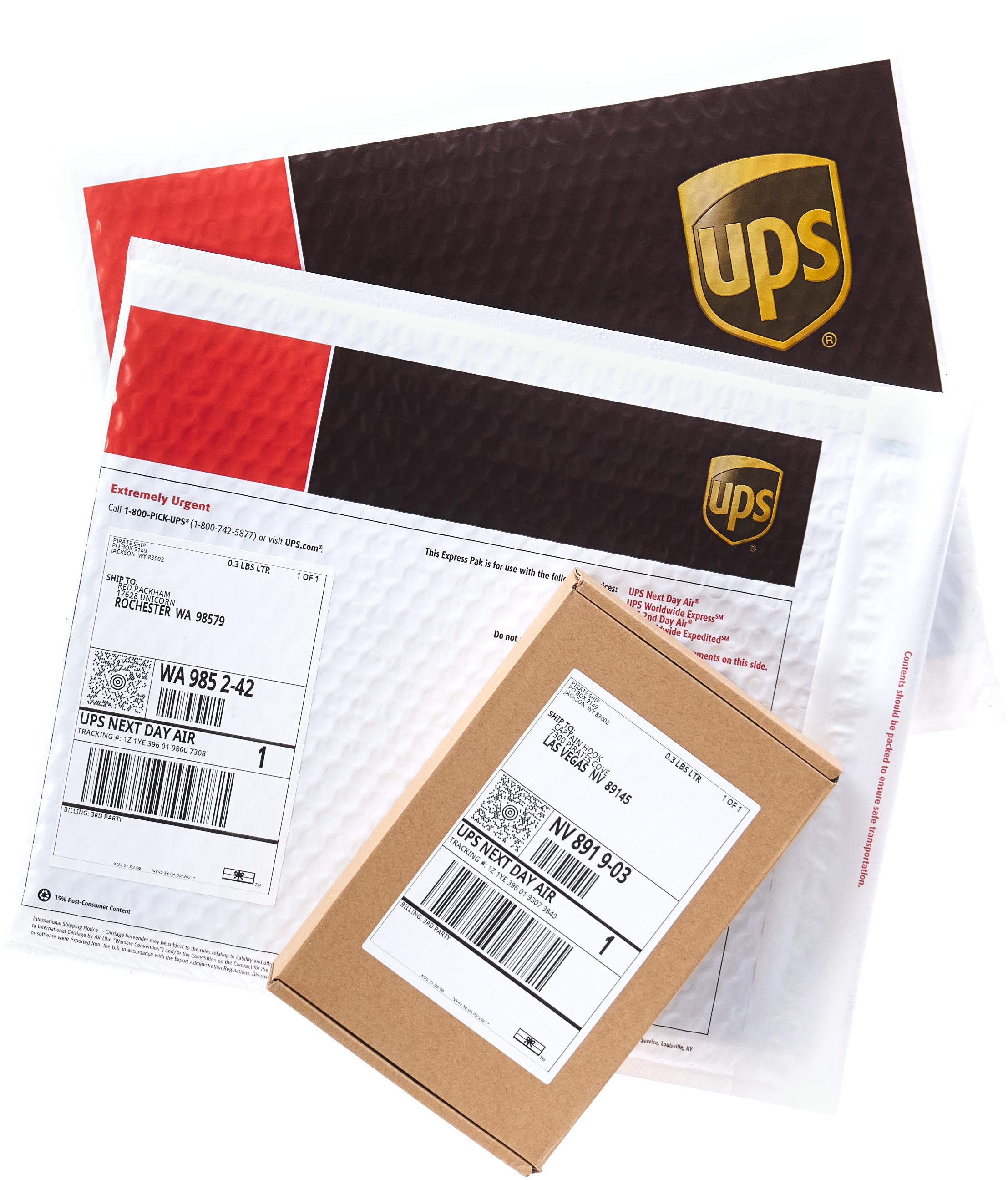 UPS Express Paks and Box