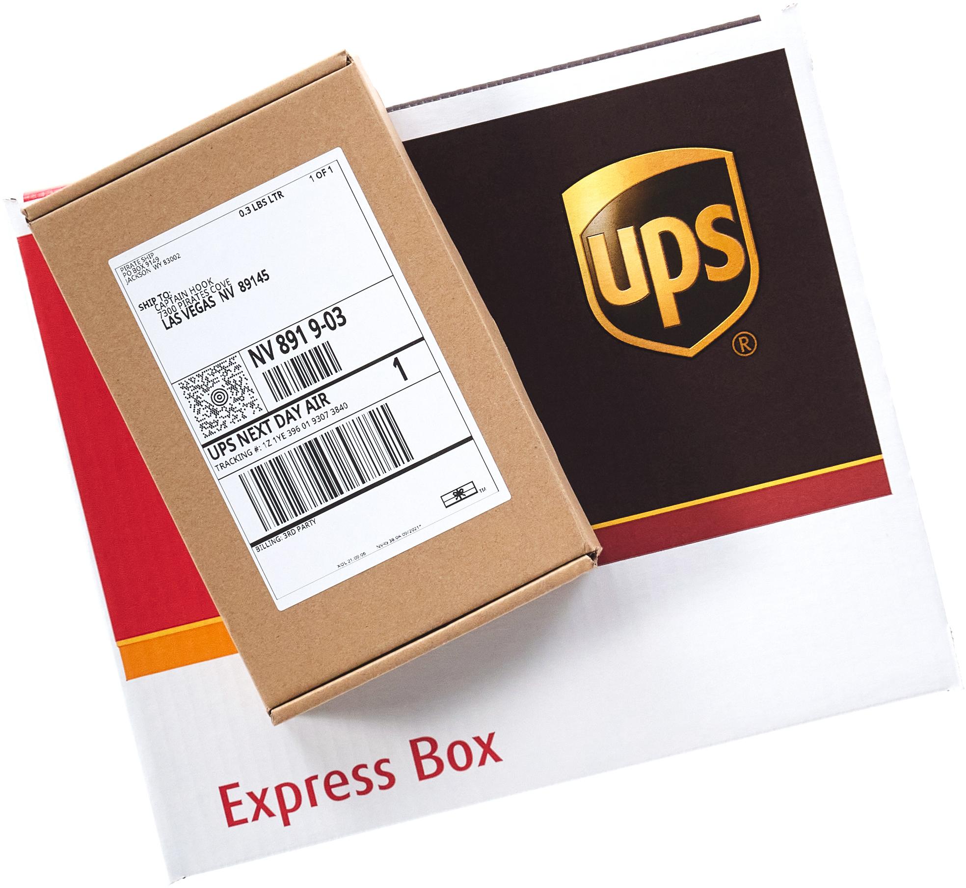 UPS Next Day Air Express Boxes