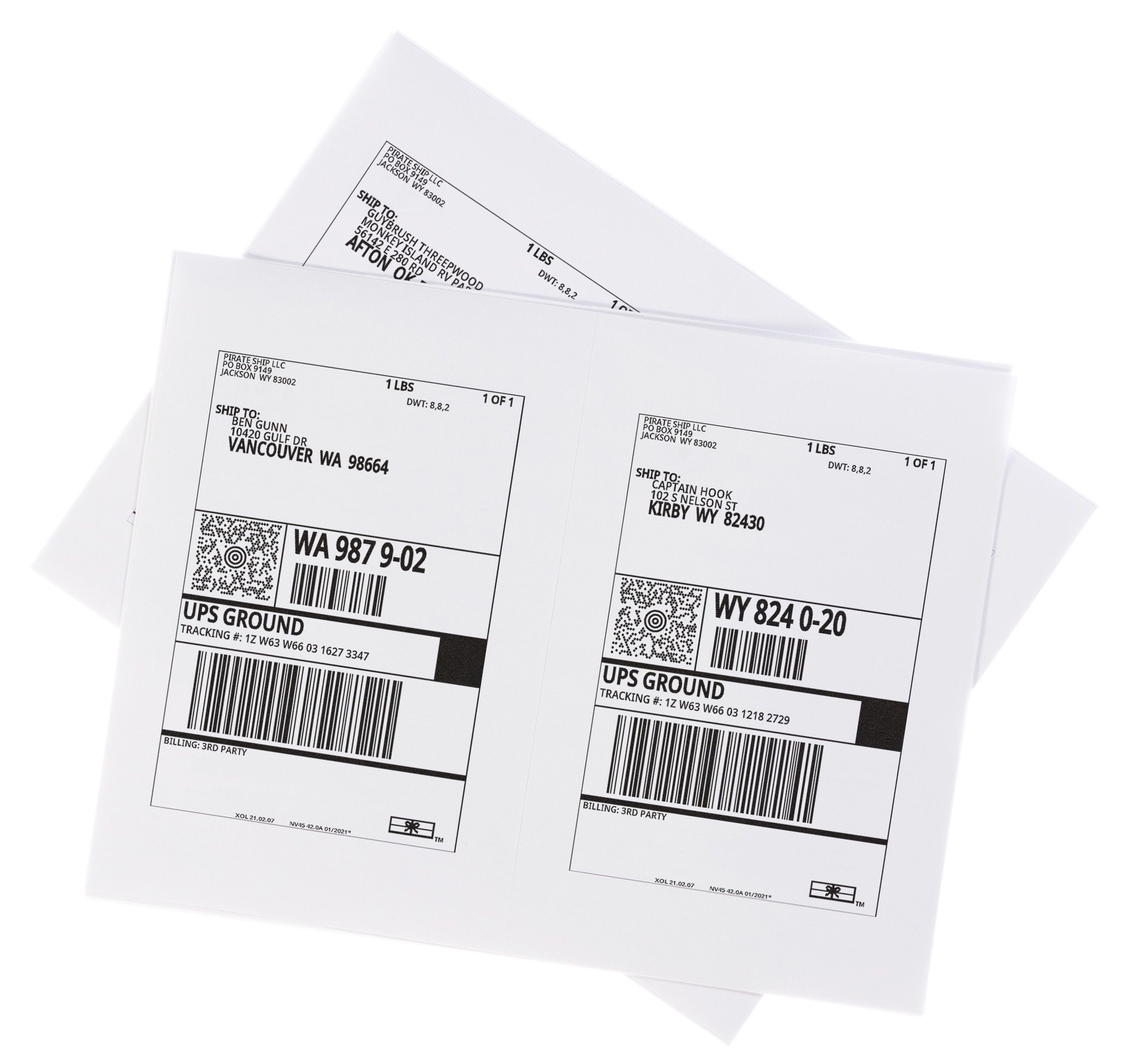 UPS Ground shipping labels