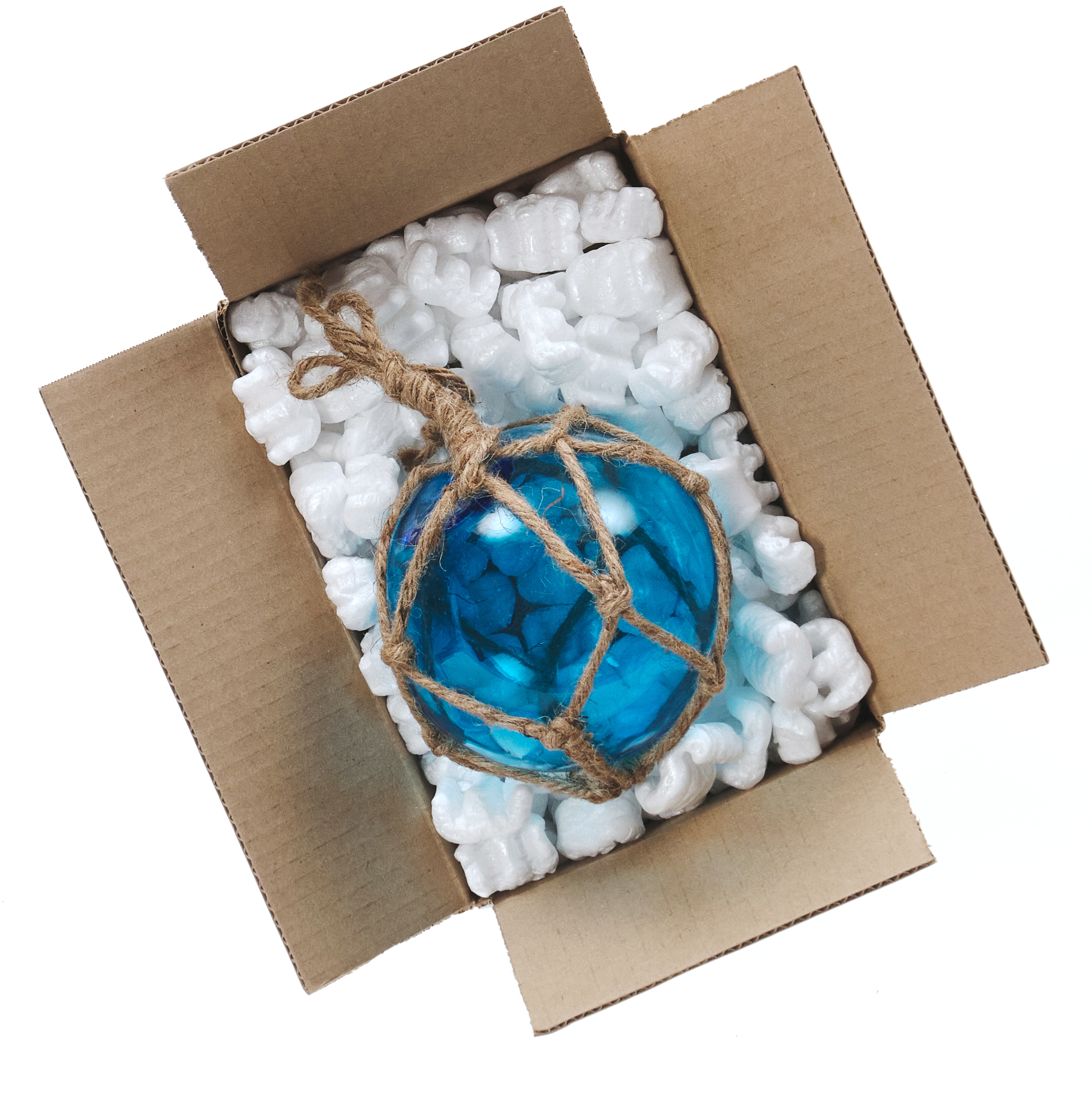 Blue buoy in a box