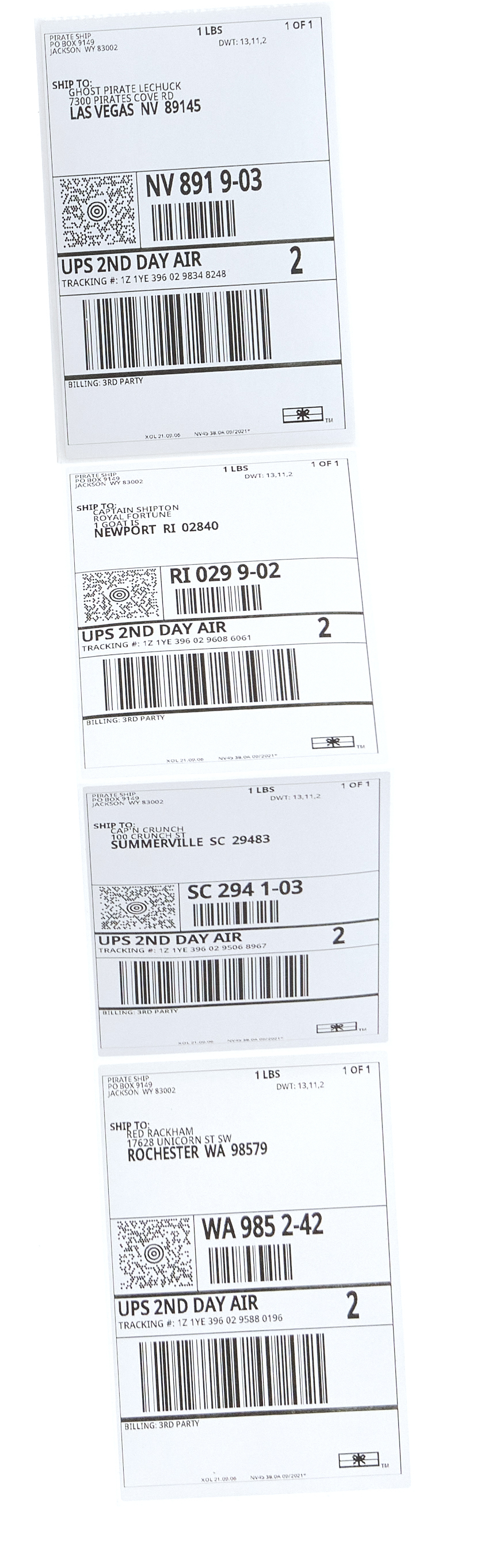 Discounted UPS 2nd Day Air shipping labels