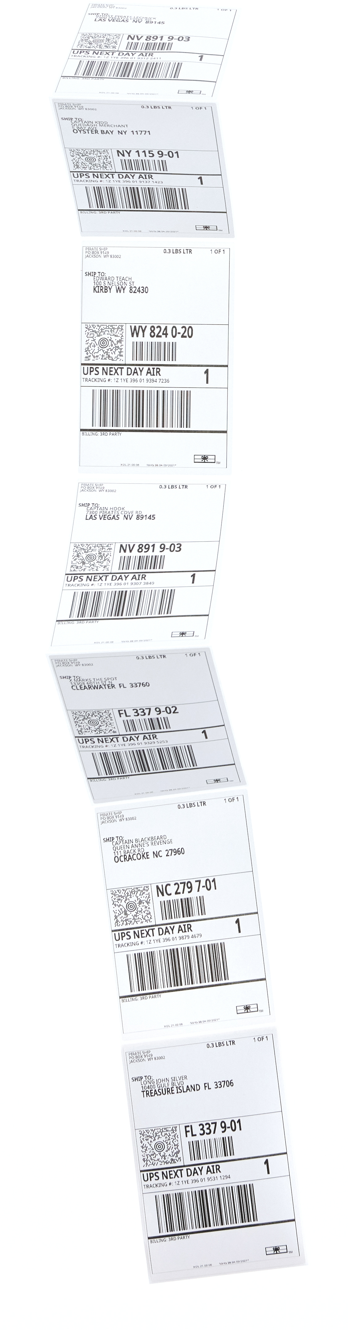 Discounted UPS Next Day Air shipping labels