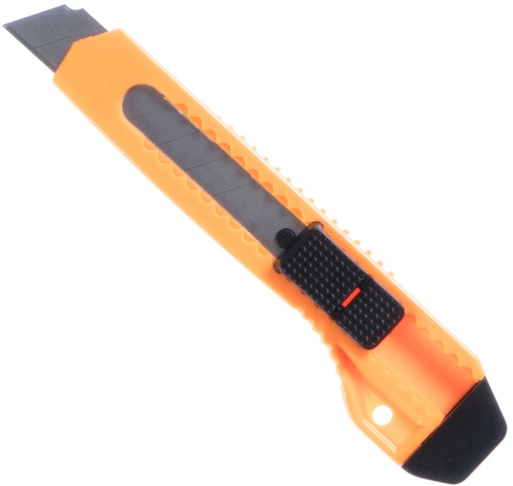 An orange box cutter