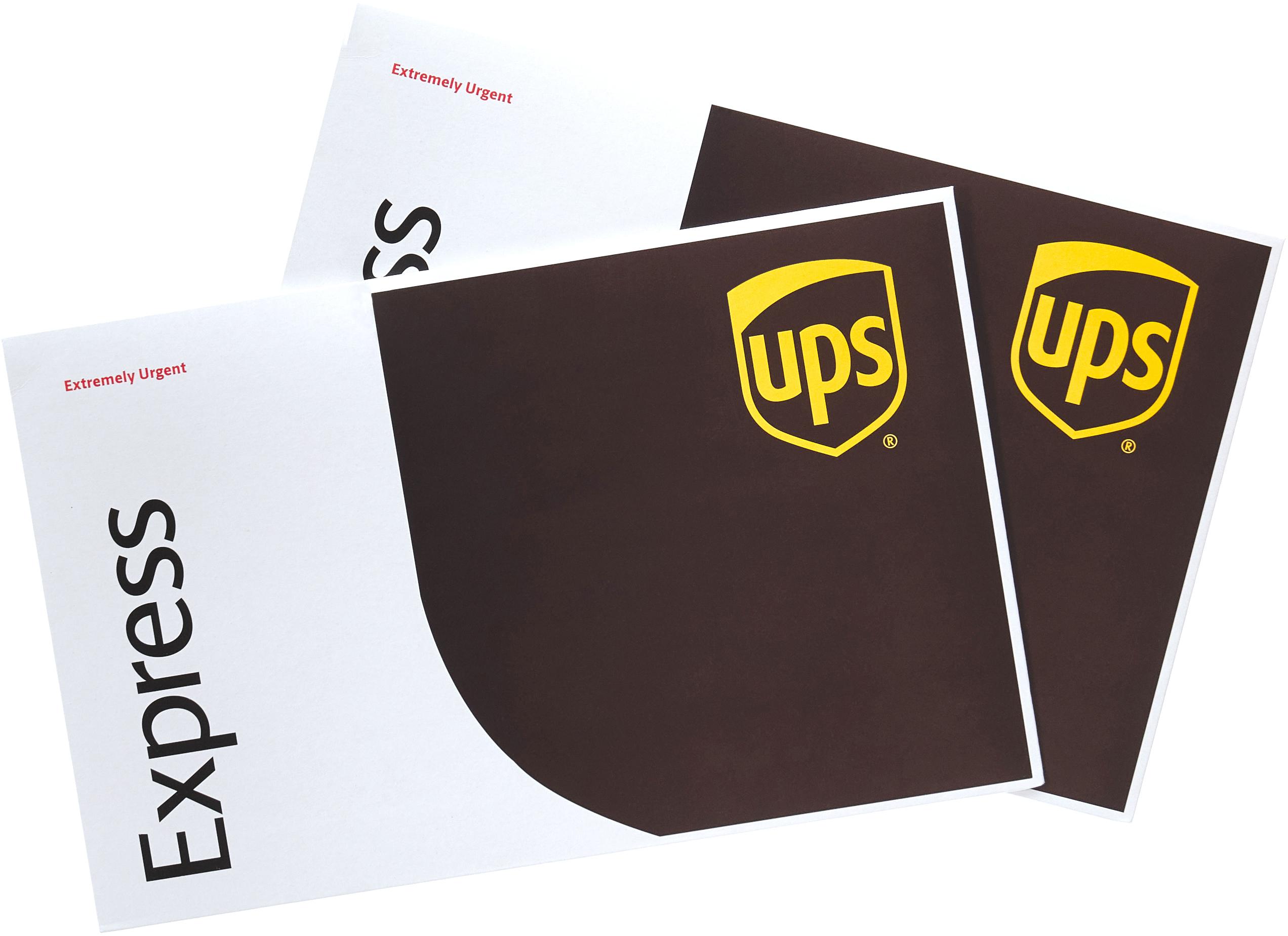 UPS Express Extremely Urgent envelopes