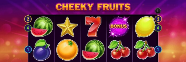 Cheeky Fruits -kolikkopeli - pelaa bonuspeli & voita, RTP 96%