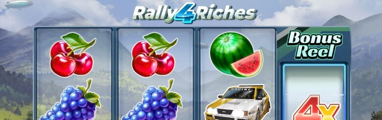 Rally 4 Riches -kolikkopeli - Voita bonuspelissä, RTP 96.25%