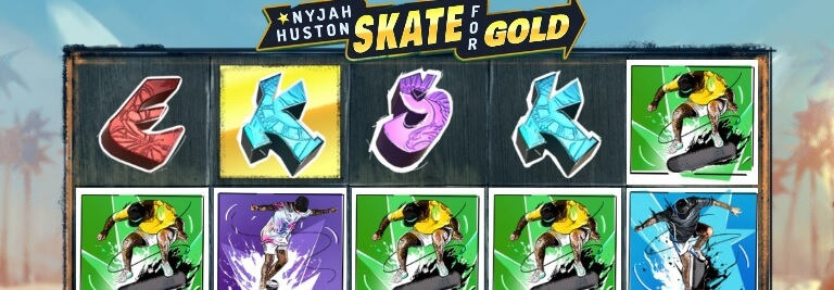 Nyjah Huston - Skate for Gold -kolikkopeli, RTP 96.2%, pelaa!