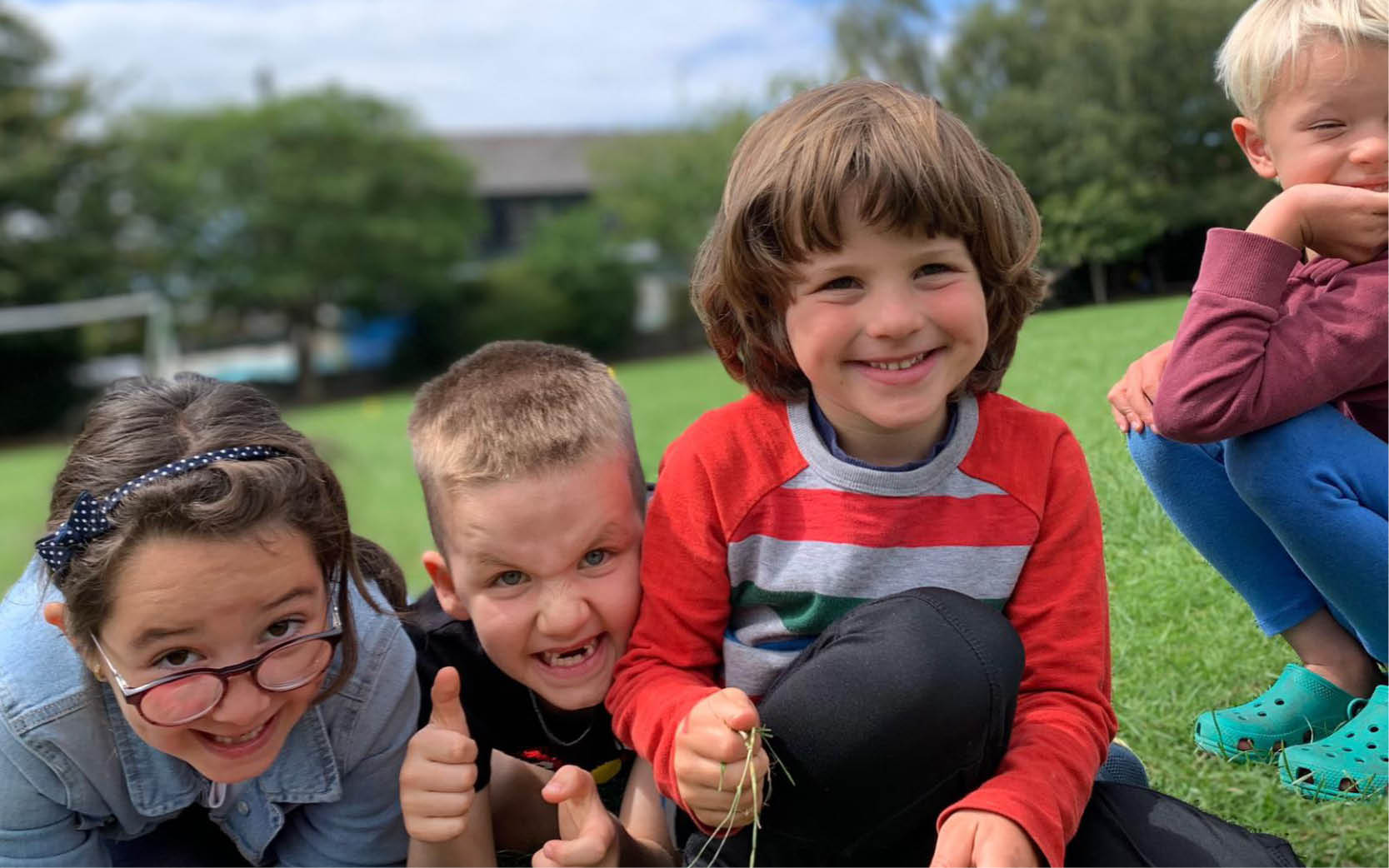 Parachute games at Bristol primary school sports club
