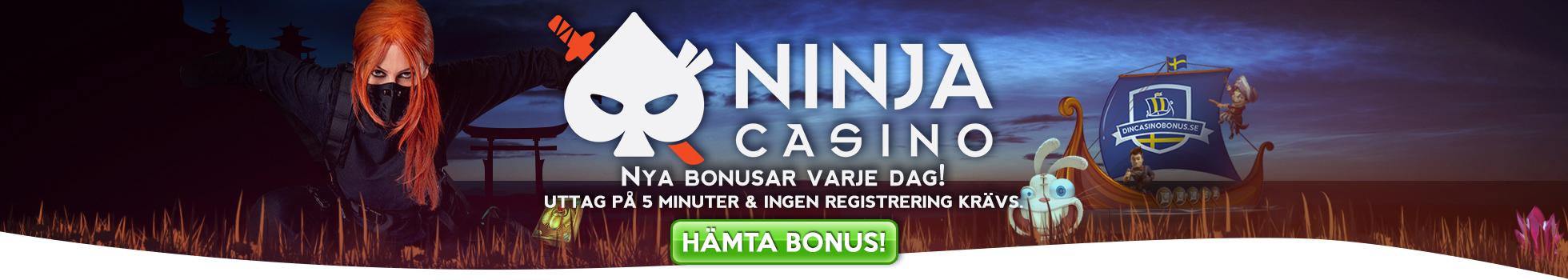 bästa casino bonus hos dincasinobonus.se