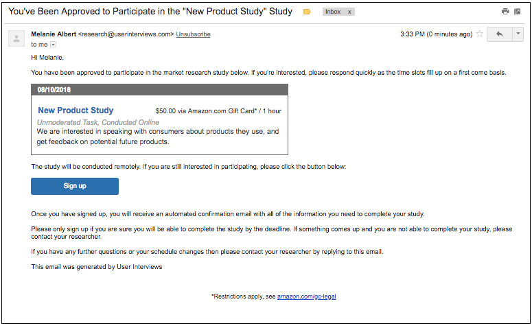 What is the participant experience of Research Hub like? | User