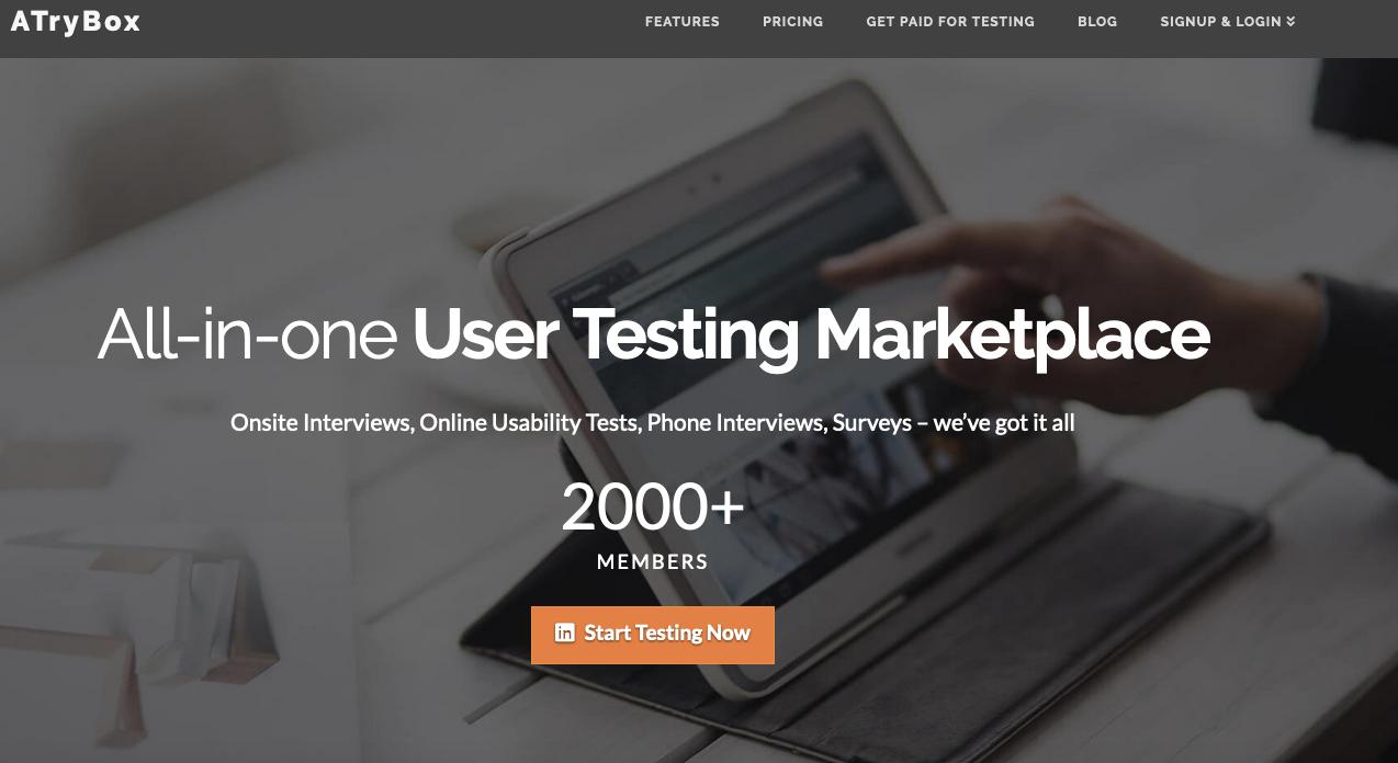 UserTesting Alternatives: ATryBox