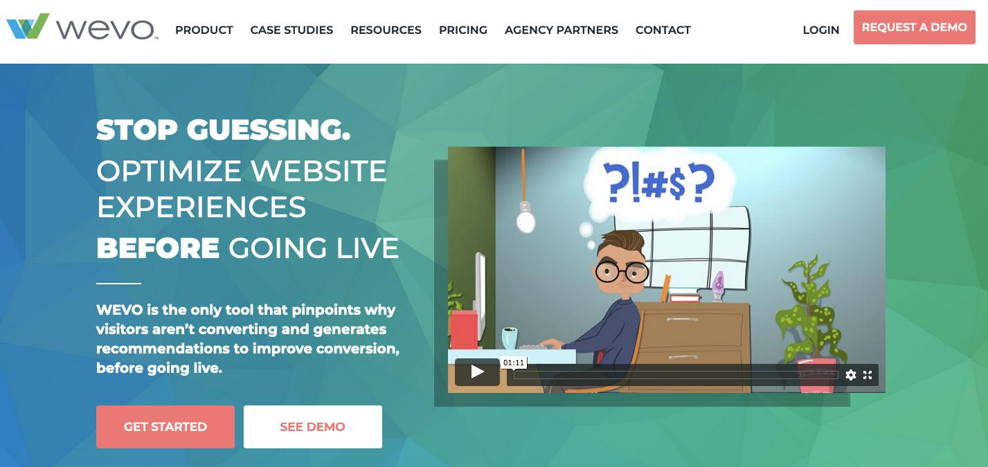 UserTesting Alternatives: Wevo