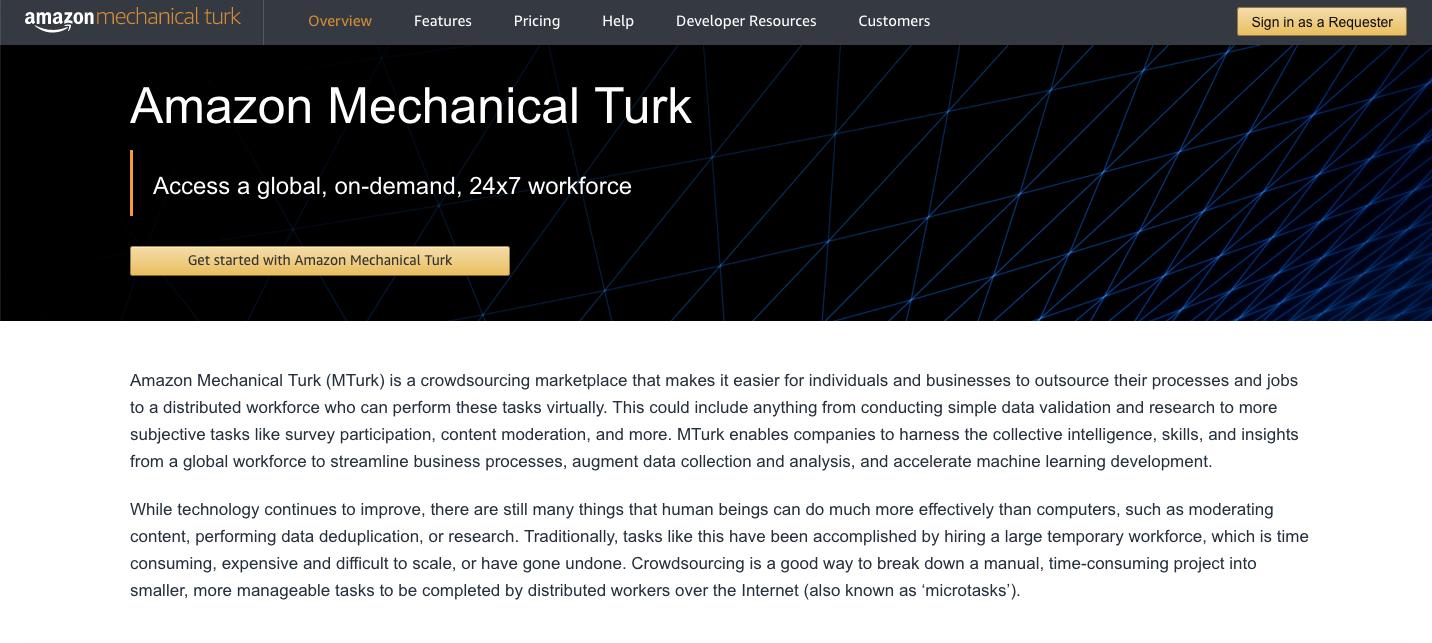 UserTesting Alternatives: Mechanical Turk