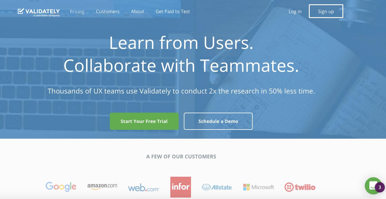 UserTesting Alternatives: Validately