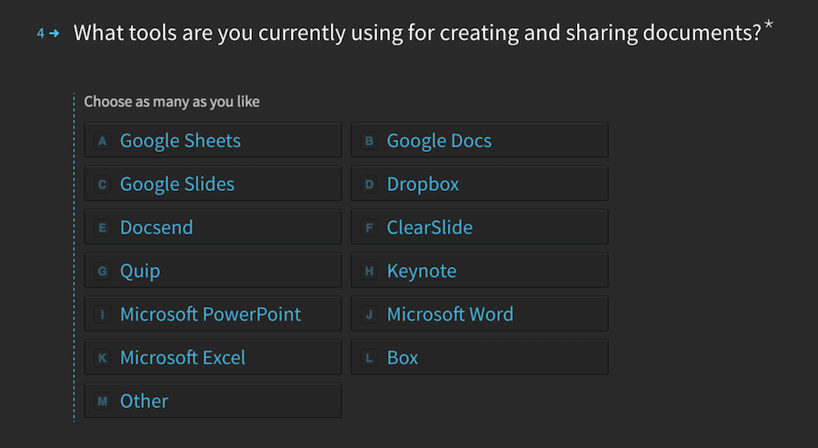 What tools are you currently using for creating and sharing documents?