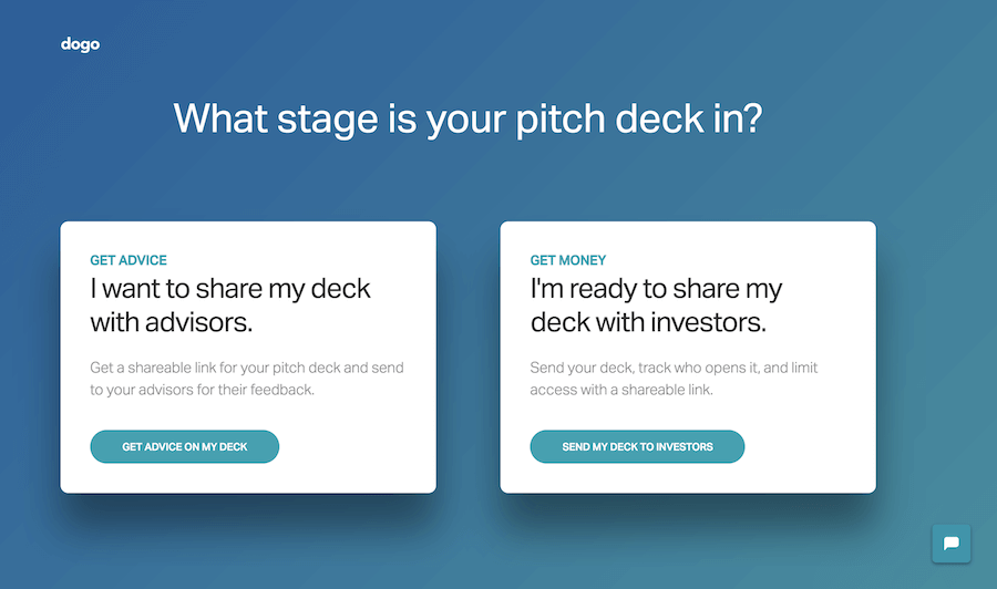 Dogo: What stage is your pitch deck in?