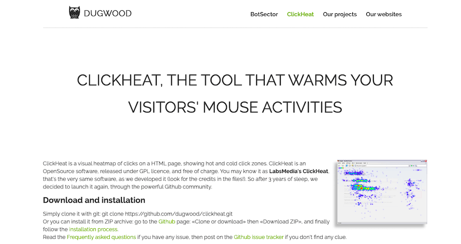 User Testing Tools: ClickHeat
