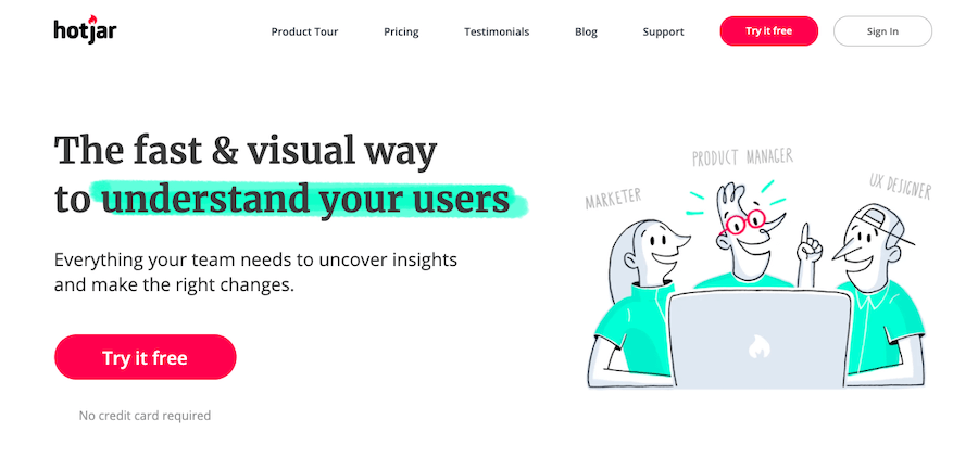 User Testing Tools: Hotjar