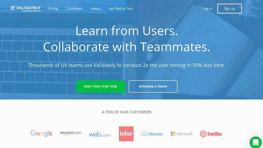 User Testing Tools: Validately