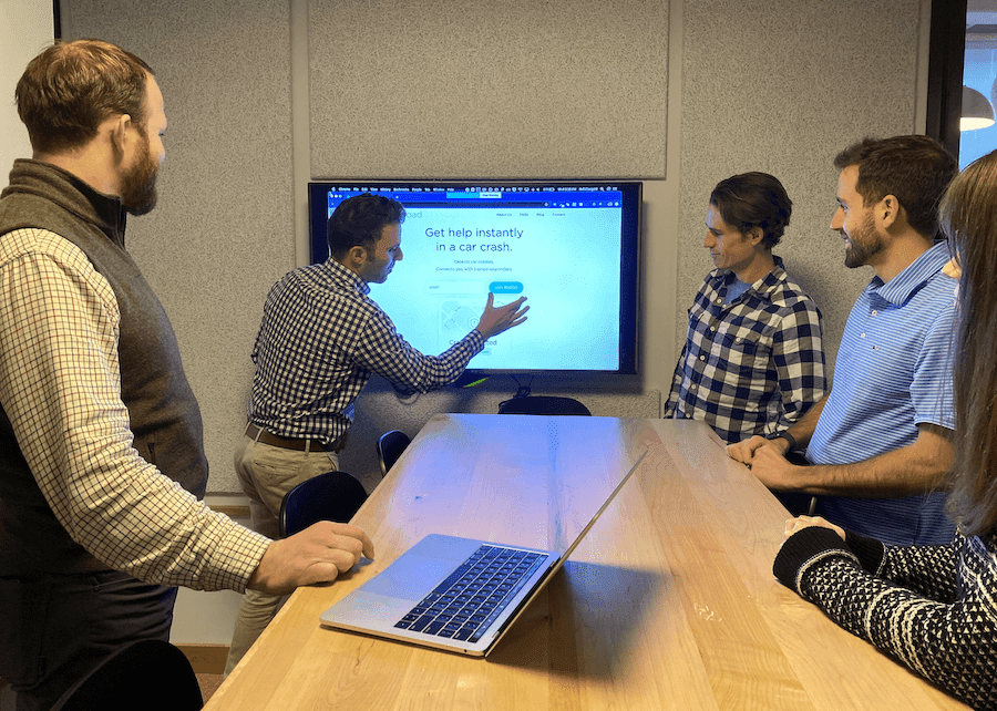 In this post, we walk step-by-step through the product development process Openroad used to get early insights from potential customers. As shown in this photo of the team working on logistics.