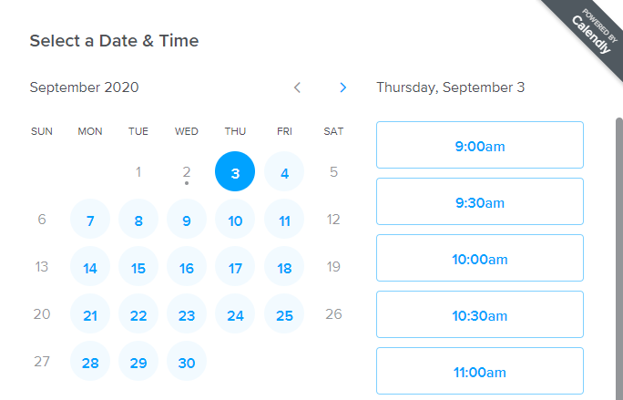 Calendly Allows Participants to Select a Date & Time That's Convenient for Them