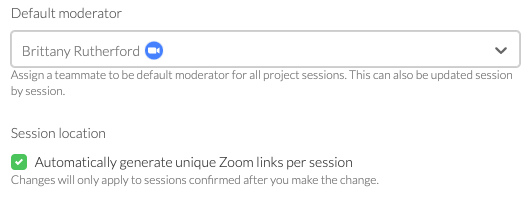 zoom + user interview integration allows you to automatically generate unique zoom links