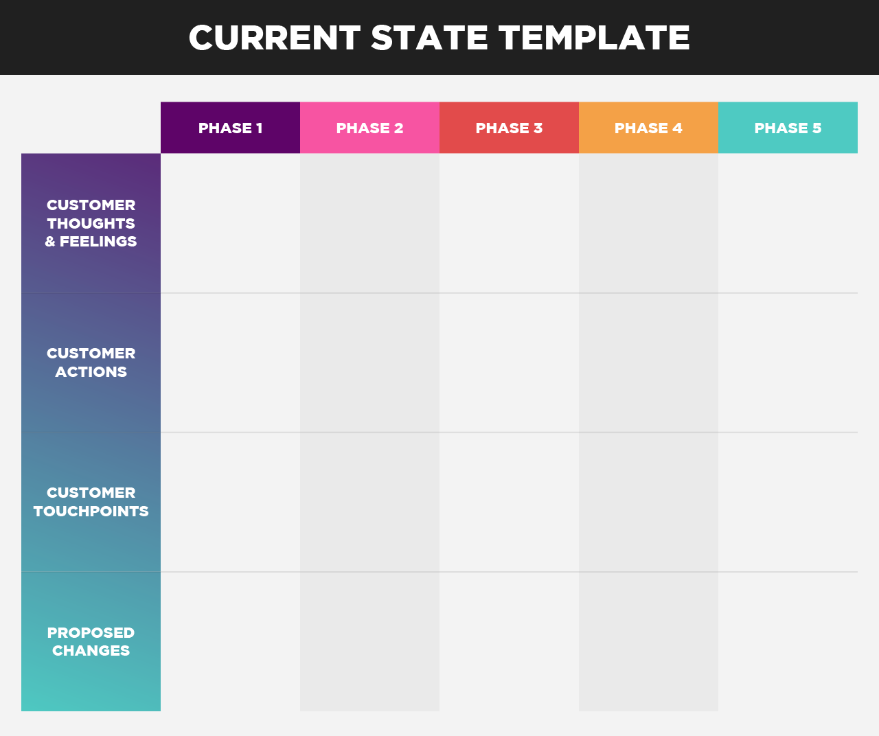 colorful current state cjm template free pdf download