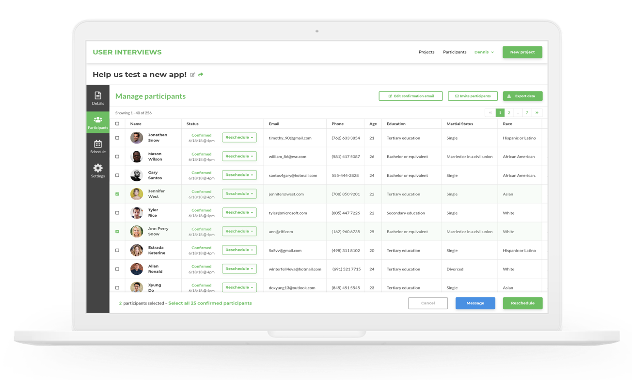 user interviews research recruiting tool