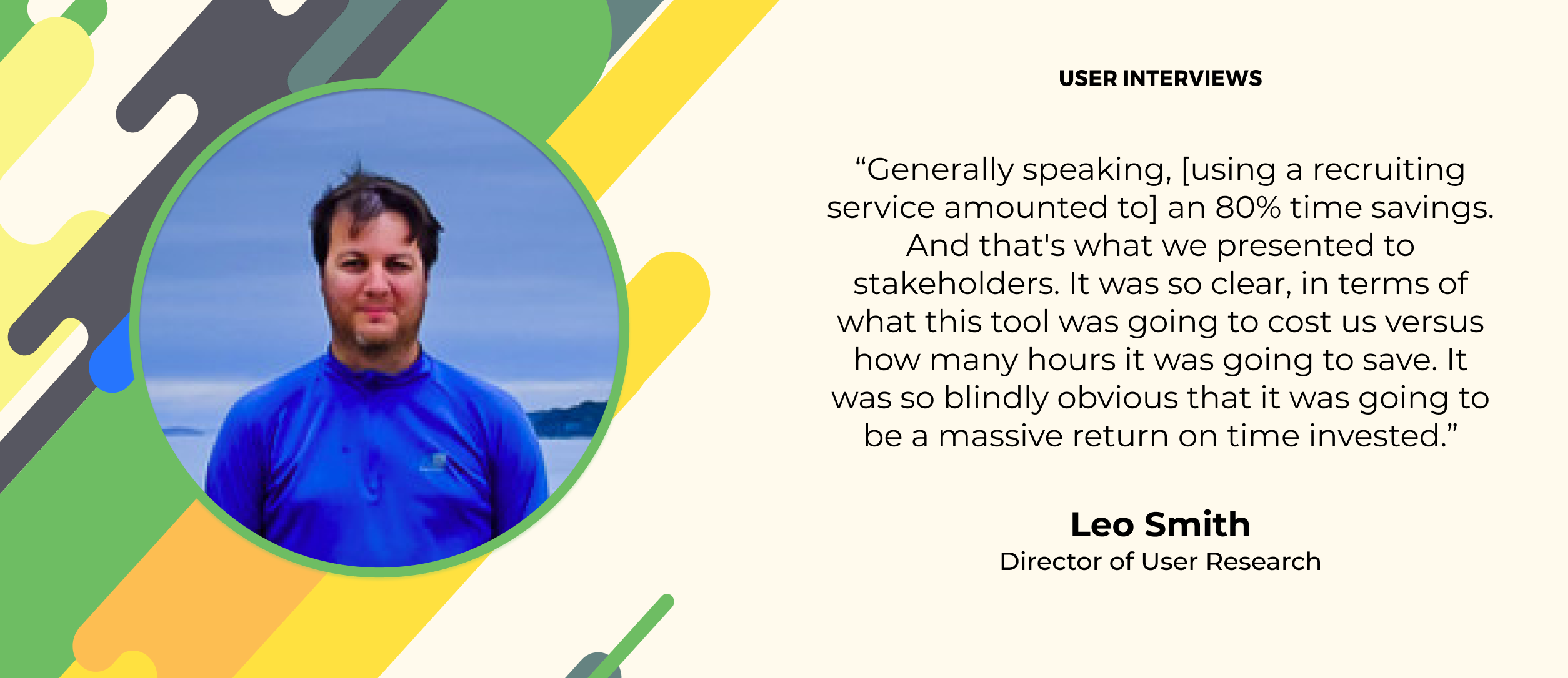 user research quote about the cost of research recruiting tools
