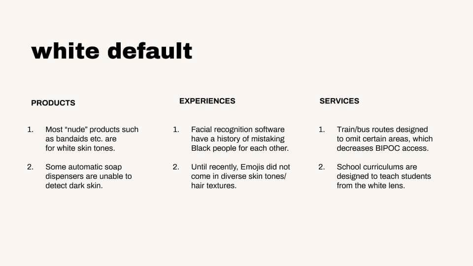 the white default in ux design and user research – by Jacquelyn Iyamah