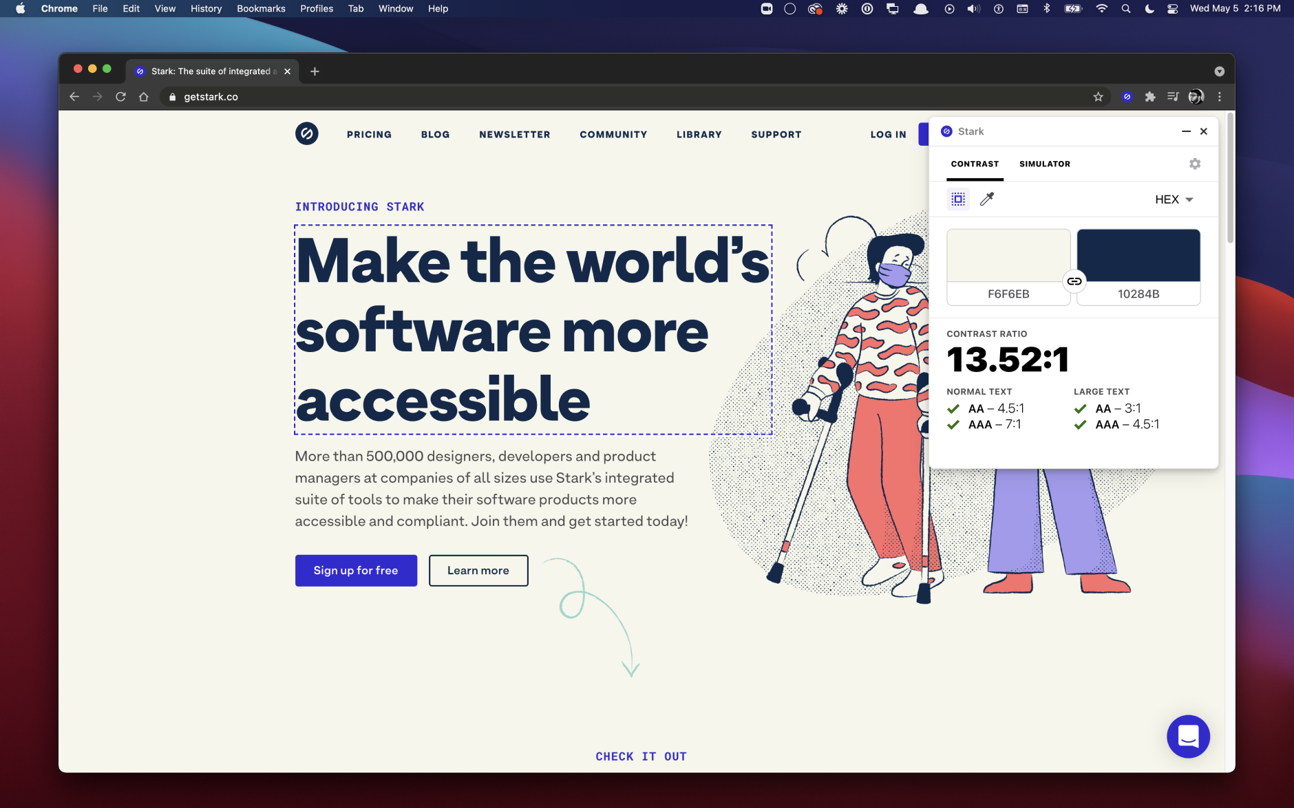 stark accessibility tools chrome extension