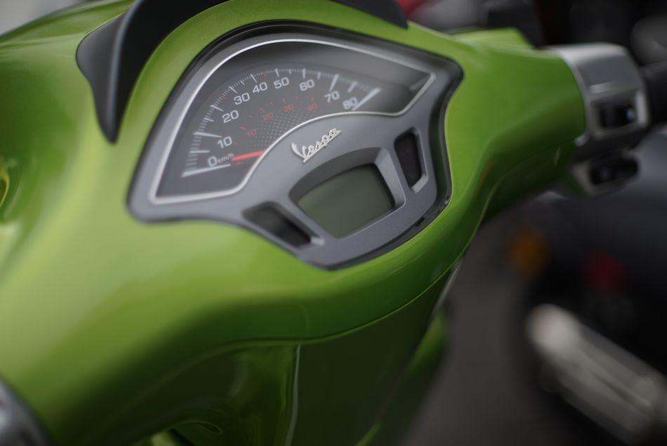 Vespa Groen Kilometerteller