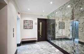 patterned mirror glass