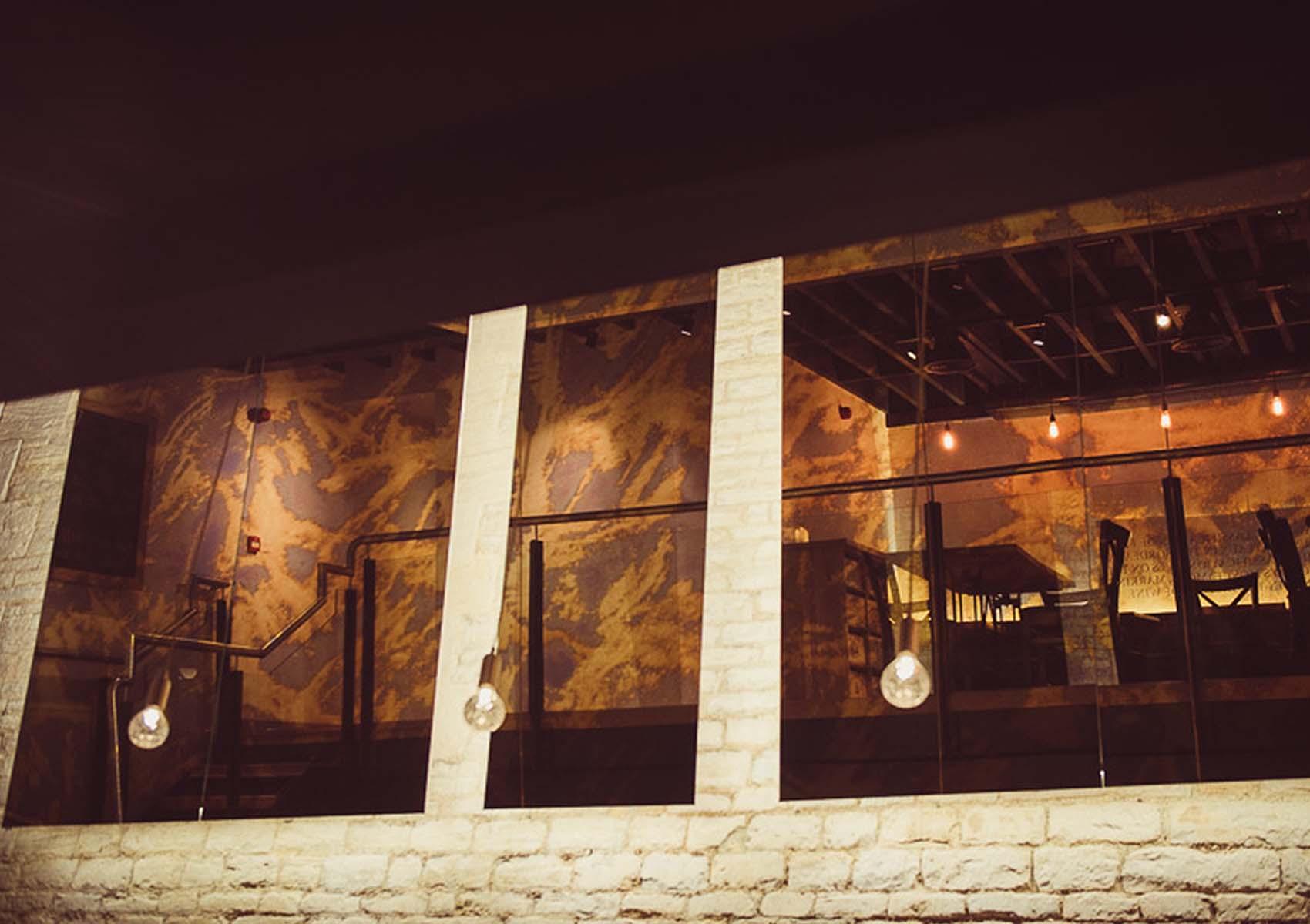 Triptych design in a restaurant