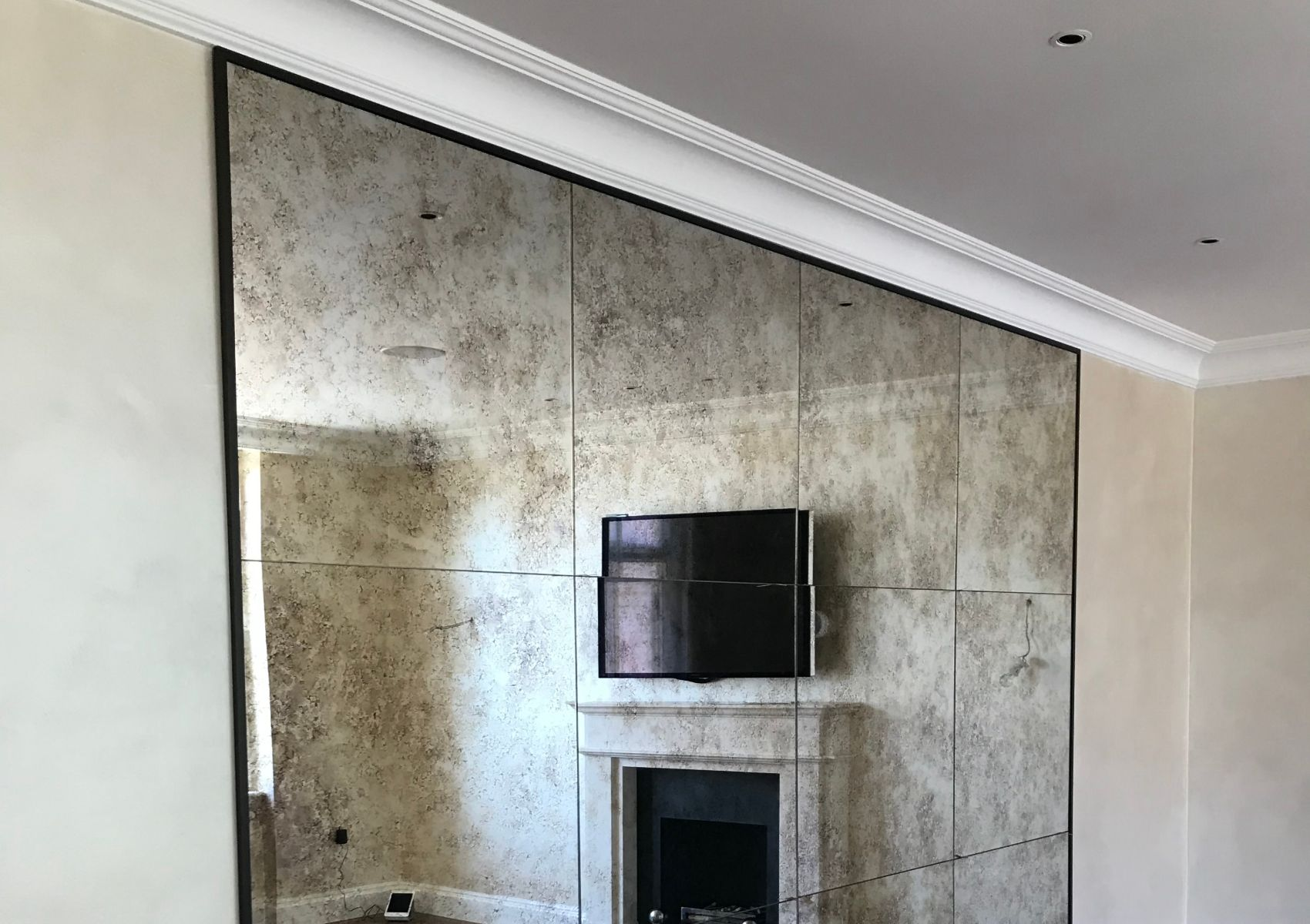 Milano style feature wall in bedroom