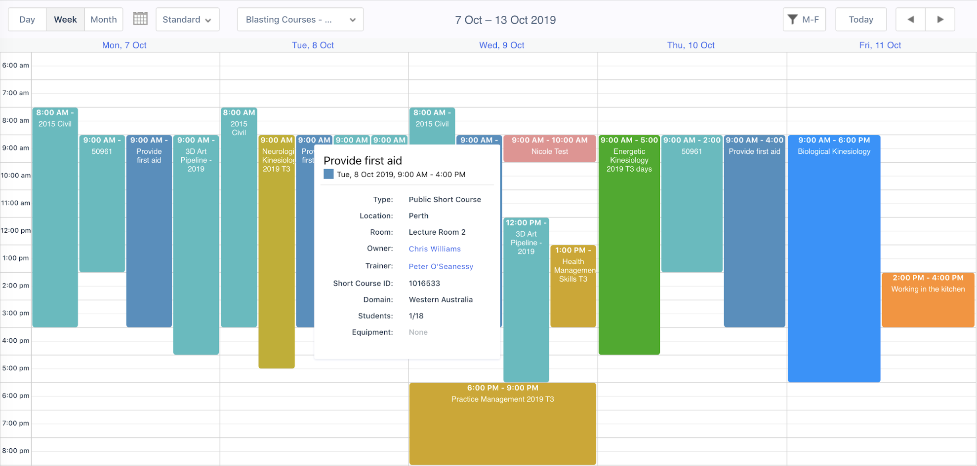 aXcelerate Calendar