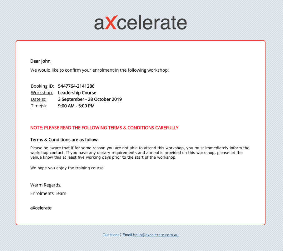 aXcelerate Learner Portal