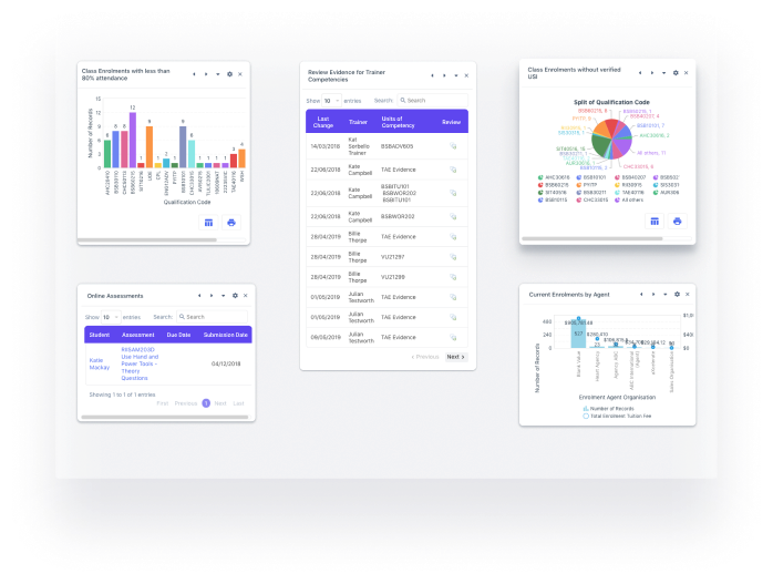 Custom reports and data visualisations