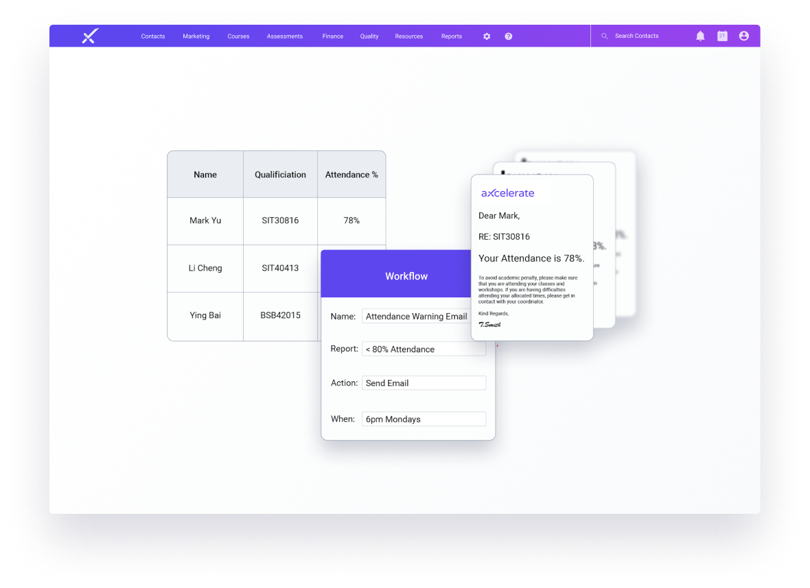 aXcelerate Workflow Simple