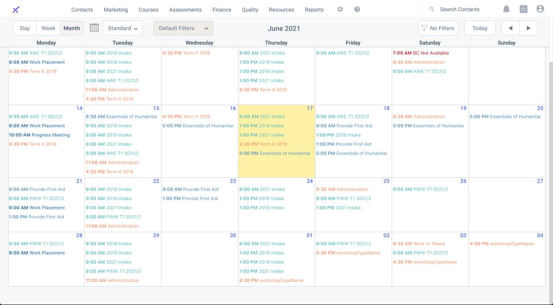 aXcelerate Google Calendar
