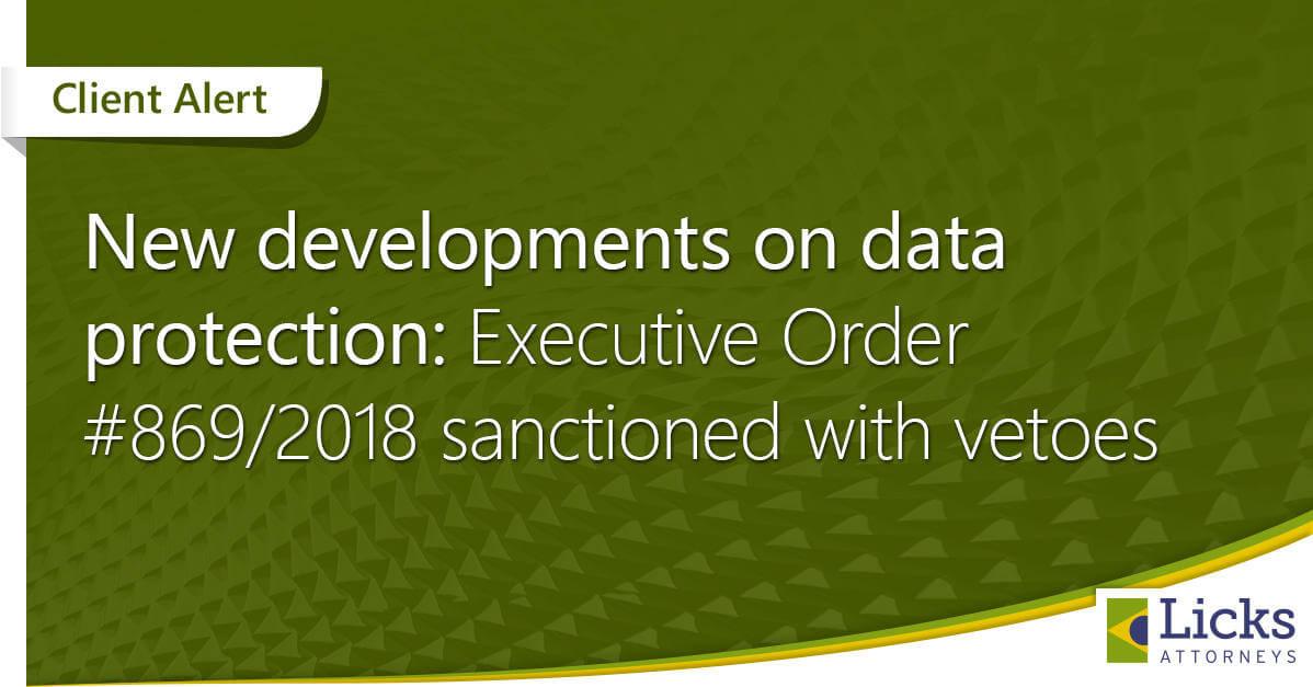 データ保護法関連の続報:暫定措置令第869/2018号改正案を大統領が裁可
