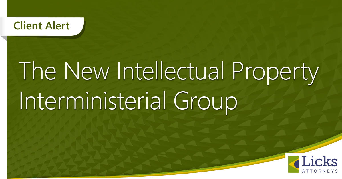 The New Intellectual Property Interministerial Group