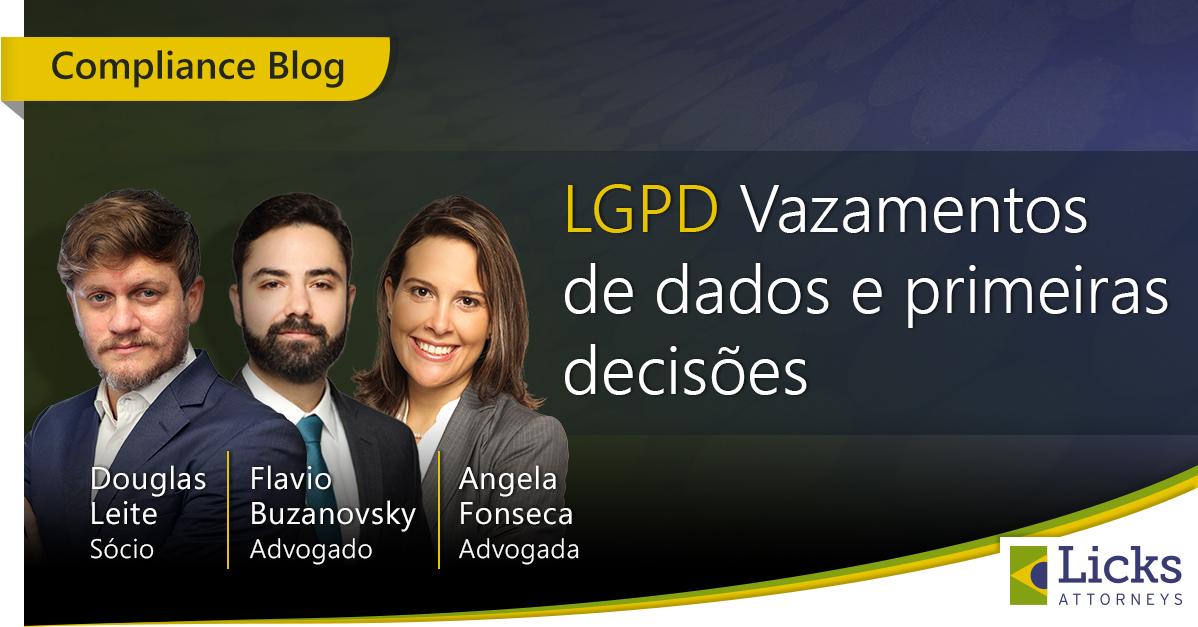 Webinar LGPD – Data Leaks and first decisions