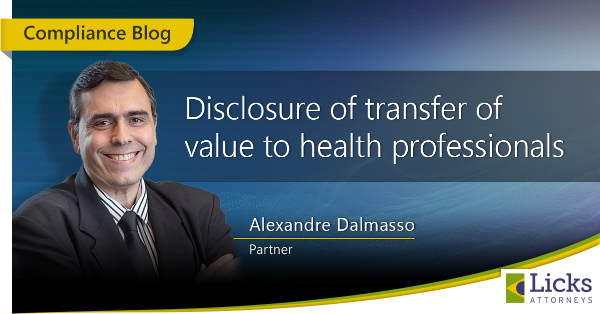 DISCLOSURE OF TRANSFER OF VALUE TO HEALTH PROFESSIONALS