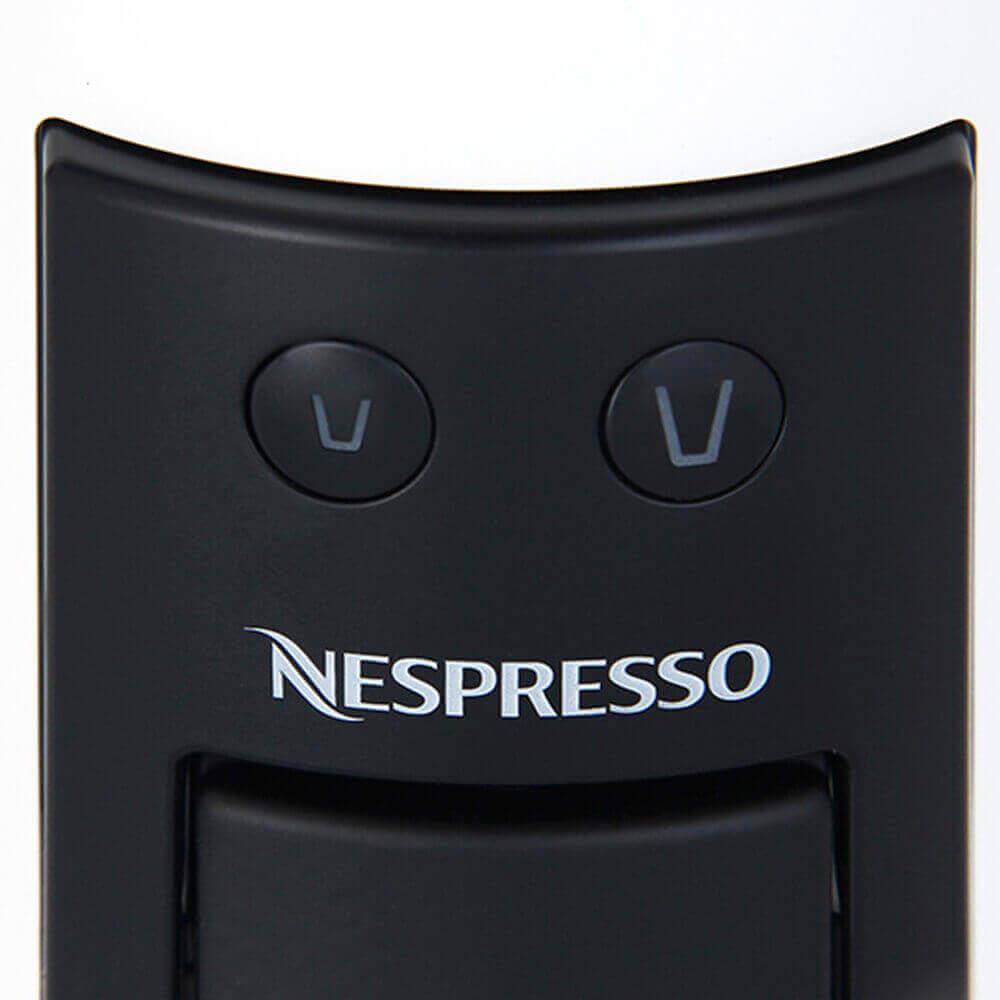 Кнопки приготовления кофе на кофемашине Delonghi Nespresso Essenza Mini