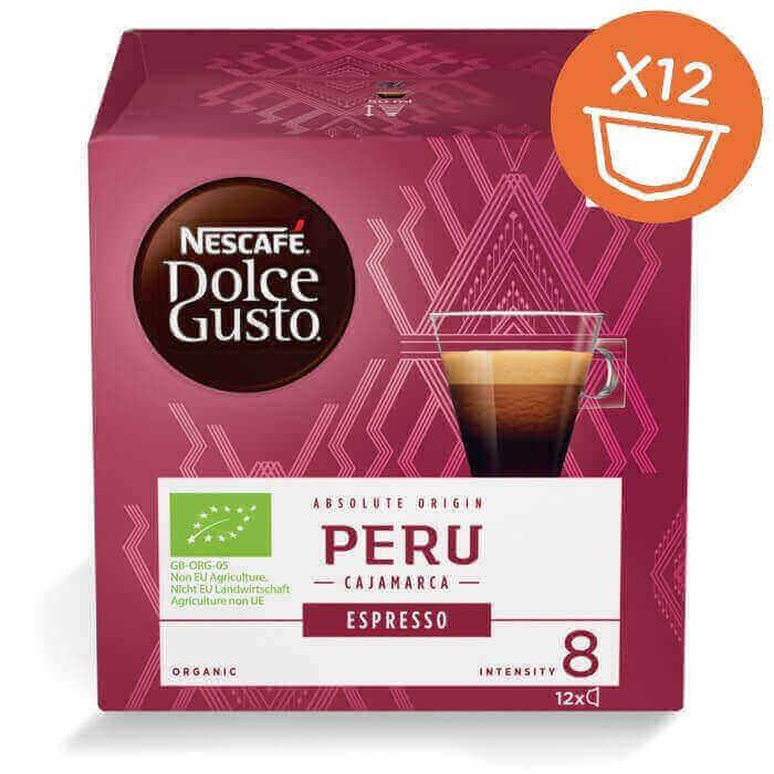 Эспрессо Peru Cajamarca в капсулах для кофемашин Nescafe Dolce Gusto