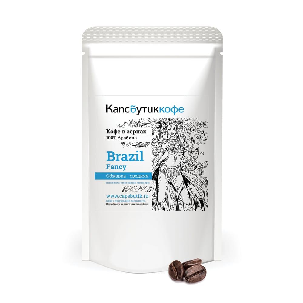 Brazil Fancy кофе в зернах 450 г упаковка